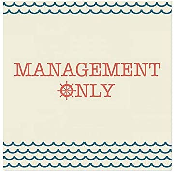 30x20 CGSignLab Management Only Chalk Banner Clear Window Cling 5-Pack