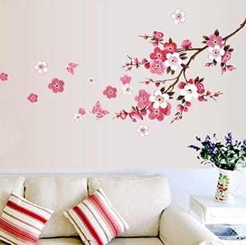 SKANG 120x50 cm Flor de Cerezo Flor Pegatinas de Pared Impermeable ...