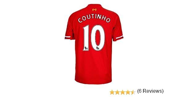 3b4206b85 Amazon.com   2013-14 Liverpool Home Shirt (Coutinho 10)   Sports   Outdoors