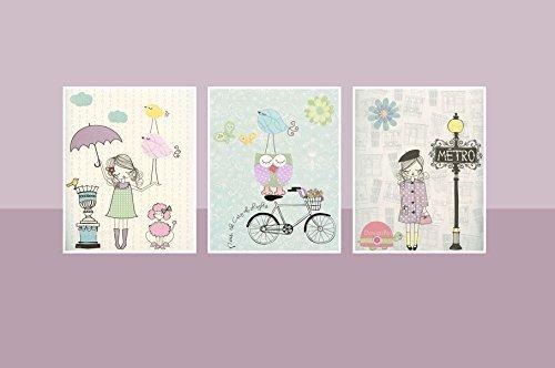 Amazon.com: Nursery art Baby room decor Baby girl nursery wall art ...