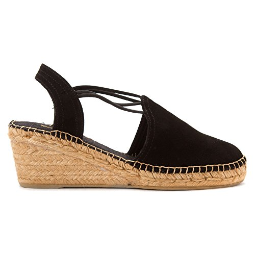 Pons Toni Sandals Suede Black Women's Tremp YUdAURq