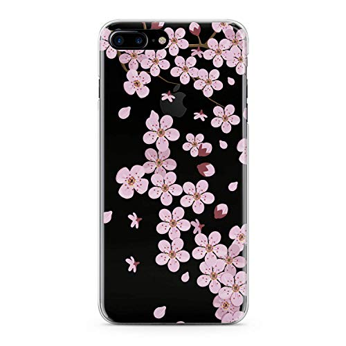 Lex Altern TPU Case for iPhone Apple Xs Max Xr 10 X 8+ 7 6s 6 SE 5s 5 Clear Pink Cherry Blossom Amazing Petals Cover Gentle Spring Print Protective Women Soft Silicone Transparent Girl Smooth Gift