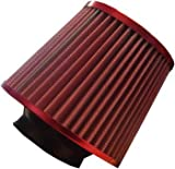 Universal Red Finish Car Air Filter Induction Kit - High Power Sports Mesh Con