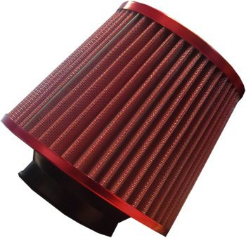 High Power Sports Mesh Cone Universal Red Finish Car Air Filter Induction Kit