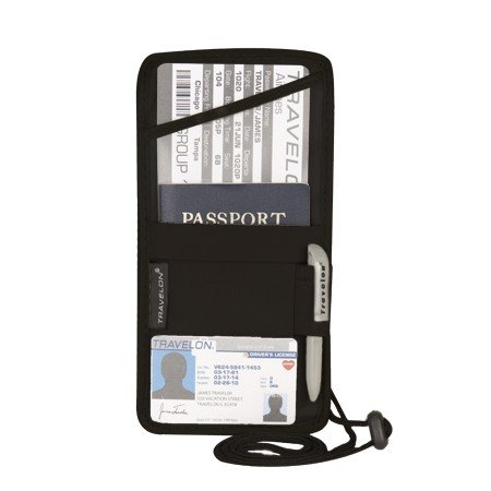 Travelon ID and Boarding Pass Holder , Black, One