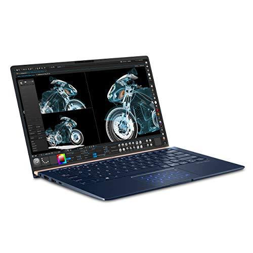 "ASUS ZenBook 14 Ultra-Slim Laptop 14"" Full HD 4-Way NanoEdge Bezel, 8th-Gen Intel Core i7-8565U Processor, 16GB LPDDR3, 512GB PCIe SSD, MX150, Numberpad, Windows 10 - UX433FN-IH74, Royal Blue"