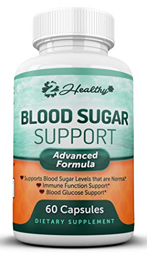Blood Sugar Support Supplement - 20 Herbs & Multi-vitamin for Blood Sugar Control with Alpha Lipoic Acid, Cinnamon & Licorice Root - 60 Pills