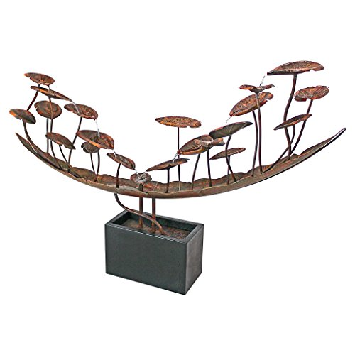 Water Fountain - Nearly 6 Foot Long Grande Asian Botanical Garden Decor Metal Fountain - Outdoor Water Feature by Design Toscano