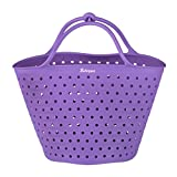 Bakerpan Silicone Vegetable Boiling Basket, Steamer and Strainer with Locking Handles