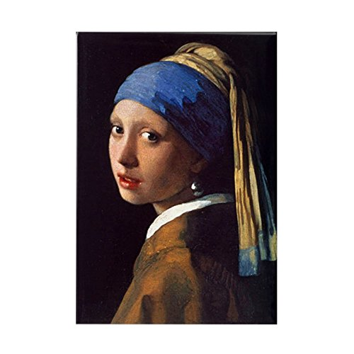 CafePress Girl With A Pearl Earring Rectangle Magnet, 2