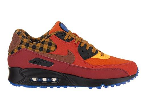 Nike Air Max 90 Premium, Zapatillas de Running para Hombre Rojo (dark cayenne/cognac-gold suede)