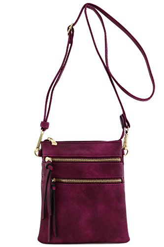 Functional Multi Pocket Crossbody Bag (Magenta) by Isabelle