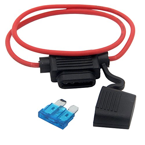 ZOOKOTO Inline Fuse Holder, 16 AWG Gauge Copper Wire Car Auto Blade Fuse Waterproof with 15 AMP Fuse