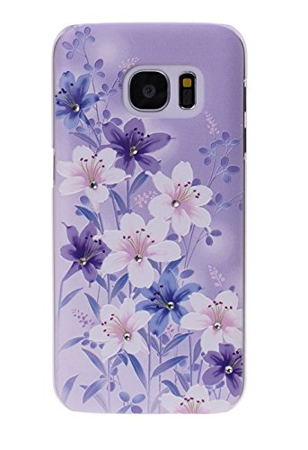 Lily Rhinestone (SuperGuard Samsung Galaxy S7 Case, Bling Glitter Sparkle Crystal Rhinestones Diamond Relief Patterns Hard Back Protective Cover Case for Samsung Galaxy S7 (Purple)