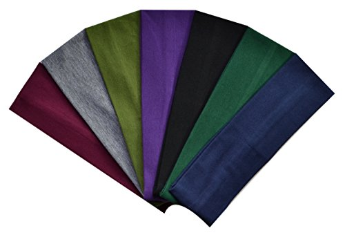 (Set of 7) 2.5 Inch Cotton Stretch Headbands From Funny Girl Designs – DiZiSports Store