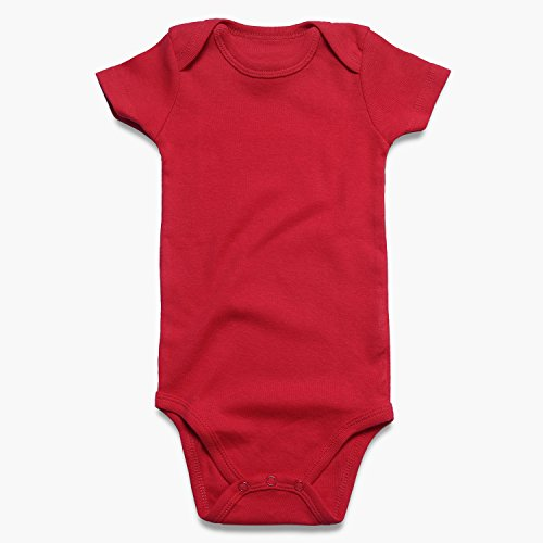 ROMPERINBOX Place Unisex Baby Bodysuits 100% Cotton 0-24 Months (6-9 Months, Black White Grey Navy Red Short Sleeve) by ROMPERINBOX (Image #2)
