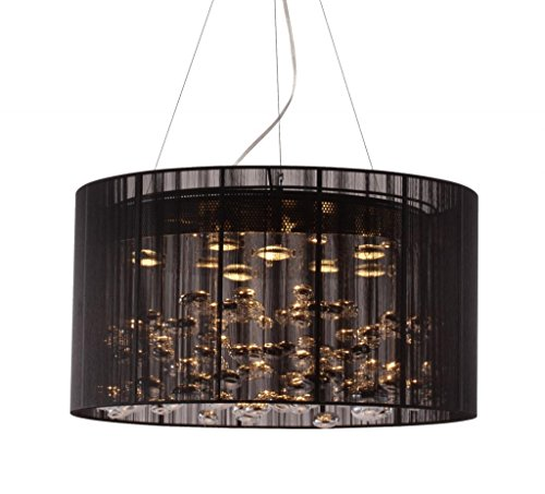 Jewelled Lace - Modern Contemporary Ceiling Lamp, Black Lace Stainless Steel