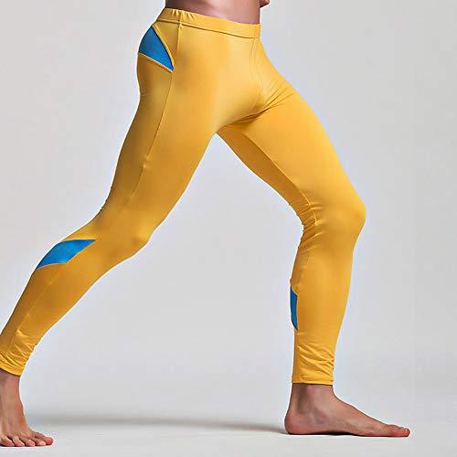 Pantaloni Bianco Stampa Uomo Traspirante Intimo Mutandoni Sportivo Lunghi Termici Cotone Holywin Leggings gdqOSPwq