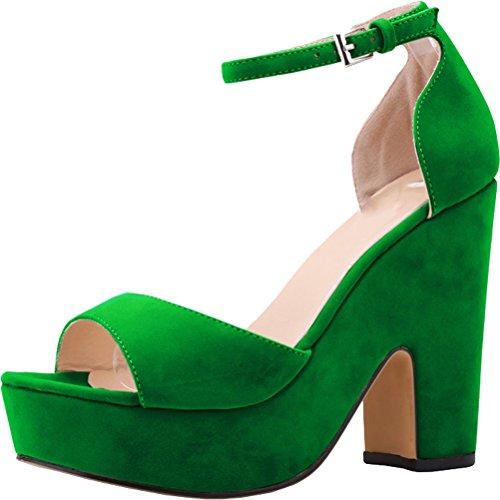 Salabobo - Sandalias mujer Verde