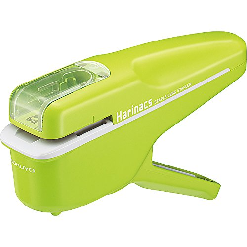 Kokuyo Harinacs Japanese Stapleless Stapler Green