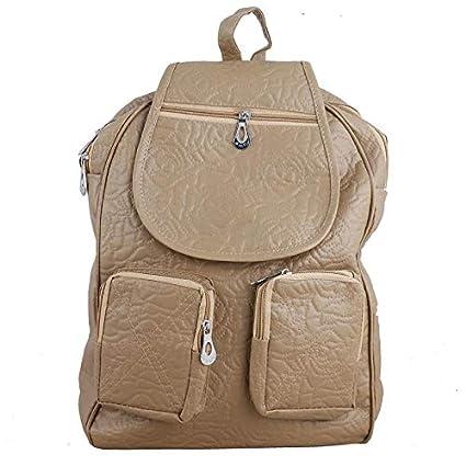 Cocksure Girls s Pu Beige Stylish Trendy School Bag College Bag Backpack  for Girls  Amazon.in  Bags 16cdb49f82f24