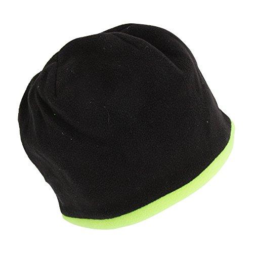 ProClimate Adults Unisex Hi-VIS Reversible Beanie Hat (One Size) (Black/Neon (Black Reversible Skull Cap)