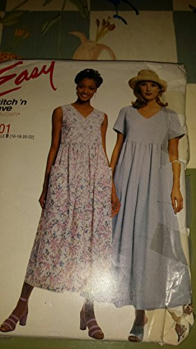 McCalls Easy Stitch N Save womens Dress and jumpsuit sz 16-22 8201