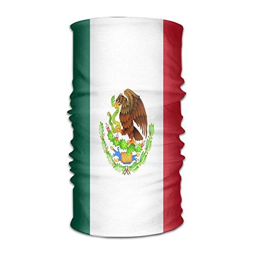 DNUPUP's Mexico Flag Outdoor Magic Bandana Headband UV Resistence Multi Function Headscarf For Running Yoga Sports (Mexico Mask)