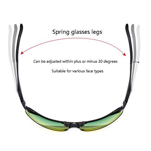 de nocturna de Gafas Polarizer los sol de uso doble de Gafas gafas SSSX de hombres de Gafas visión conducción anti sol Deportes de La y Plata ULTRAVIOLETA al a alta Luz día anti pesca haz sol de noche Gafas de RwYdnnqtB