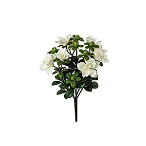 "14"" Artificial Azalea Bush- White 16"