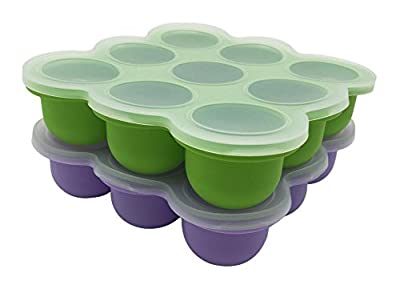 LUXEHOME Set of 2 - BPA Free Silicone Baby Food Storage Freezer Containers with Clip-on Lid , FDA Baby Food Storage Trays by liuhexiang that we recomend individually.