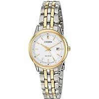 Citizen Women's 'Eco-Drive Bracelet' Quartz Stainless Steel Watch, Color:Two Tone (Model: EW2404-57A)