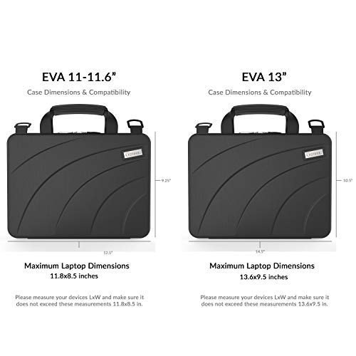 UZBL 11-11.6 inch EVA Always On Work-in Protective Laptop Sleeve and Case with Carrying Handle and Strap for Chromebook, Ultrabook and Notebooks, Designed for Students, Classrooms and Business by UZBL (Image #6)