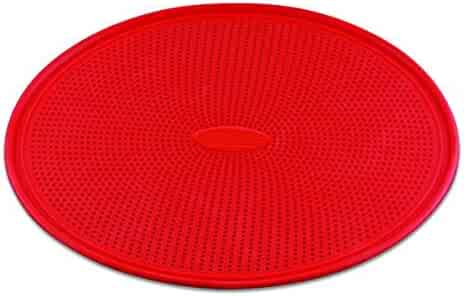 DoughEZ 13-Inch Perforated Silicone Non-Stick Metal Reinforced Rimmed Pizza Pan | Oven Safe Up to 480° F | Dishwasher Safe | BPA Free, FDA Approved Materials