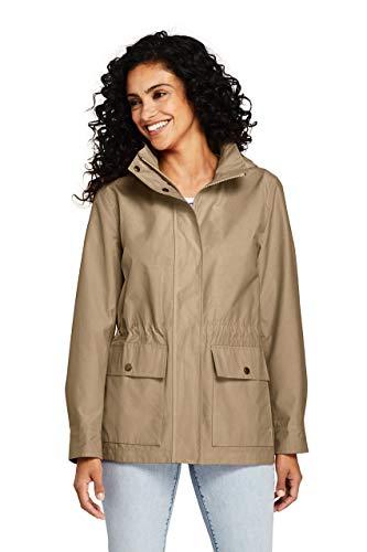 Lands' End Women's Lightweight Cotton Jacket, L, Desert Tan ()