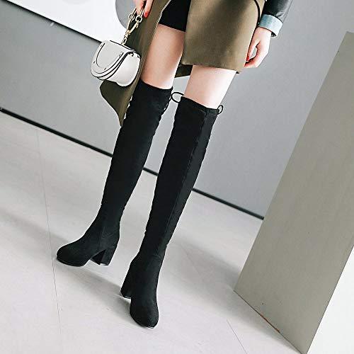 À Portent Genou Talon Taille Noir L'hiver Bottes C n Chaussures L'automne Pour Enfants Les Et Femmes Haut Grande Des P76nBq7v