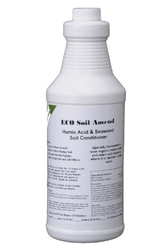ECO Liquid Seaweed Humic Acid Soil Amend Concentrate Quart Bottle (Best Lawn Grass Seed For North Dakota)