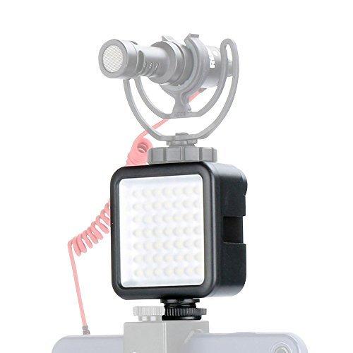 LED Video Light Camera Lighting - Ulanzi Dimmable Portable 49 LED Ultra Bright Panel Video Lighting LED Lights Camera Light for Canon Nikon Pentax Panasonic Sony Digital Dslr Cameras and iPhone etc. by ULANZI