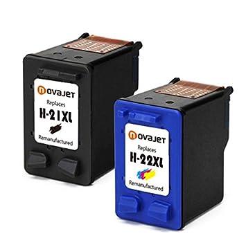 Novajet Reemplazo Para HP 21XL 22XL 21 22 Cartuchos de tinta ...