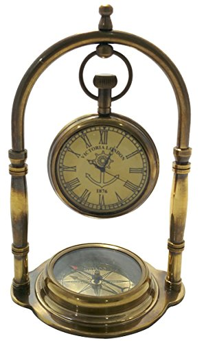 Artshai Antique look full brass Table Clock with Magnetic...