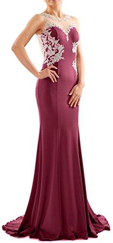 Wine Vestito fasciante maniche Donna Red MACloth Senza HZXdwqq