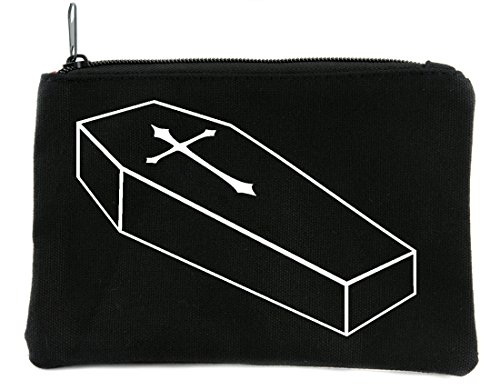 Cross Coffin - Voodoo Coffin with Cross Cosmetic Makeup Bag Alternative Gothic Accessories