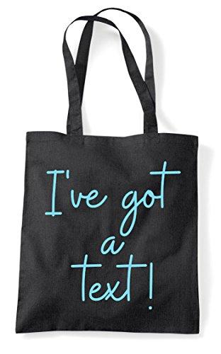Quote Shopper Black Got Statement Tote A Hashtag I've Text Bag xXqHnzxT