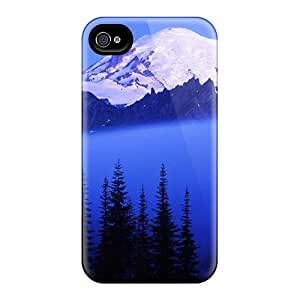 Saraumes LYsRlUW6068vjsDS Case Cover Iphone 4/4s Protective Case Rising Through The Fog