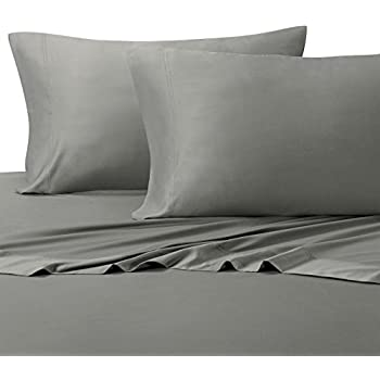 solid gray king size sheets 4pc bed sheet set 100 cotton 300