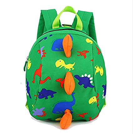 Frealm Toddler Backpack Little Kids Travel Backpack Cartoon Cute Dinosaur  Preschool Backpack for Toddlers Kids Boys Girls with Safety Leash (Green)   ... cfe10b57b18c7