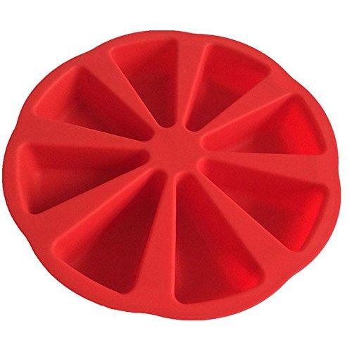 (Hosaire 8 Cup Triangle DIY Fondant Silicone Sugar Mold Cake Mold Baking Tool)
