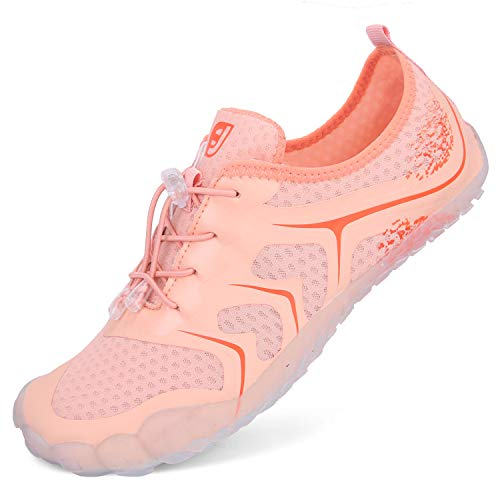 L-RUN Womens Water Shoes for Beach Pool Swim Surf Diving Pink 7.5 M US Women