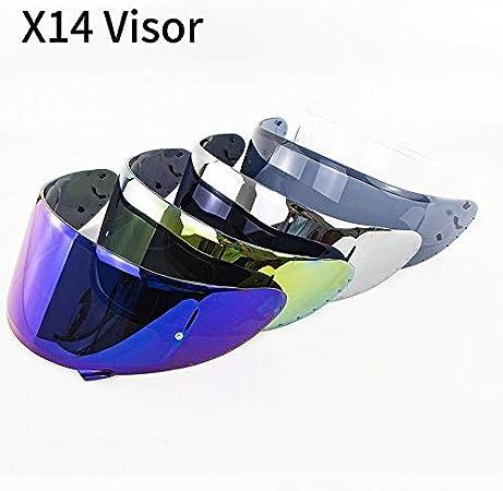 NO LOGO KF-Visor Visiera for X14 Z7 Z7 CWR-1 NXR RF-1200 X-Spirito del Modello del Casco del Motociclo della Visiera X14 Motor Bike Parts Accessori Colore : Golden