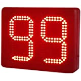 "BESTLED 8"" 2 Digits Lap Counter LED Timer Semi-outdoor Seconds Countdown/up Timer IR Remote Control LED Digital Timer"